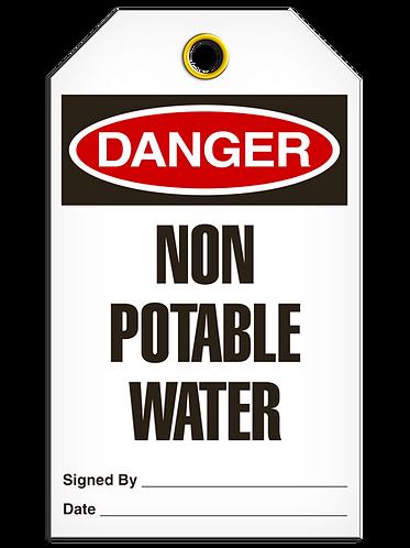 DANGER  -  Non Potable Water