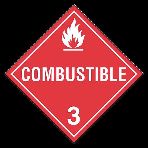 Class 3 - Combustible Liquids