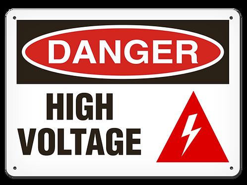 DANGER - High Voltage Safety Sign