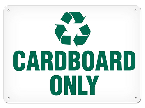 RECYCLE - Cardboard Only