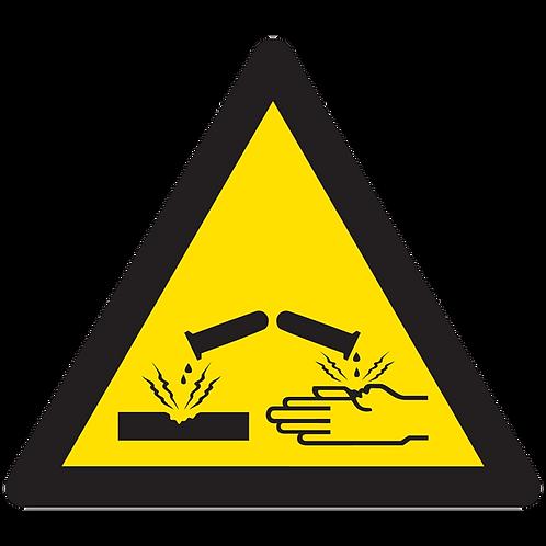 WARNING - Corrosive Material