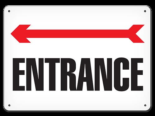 Entrance Arrow Left Sign