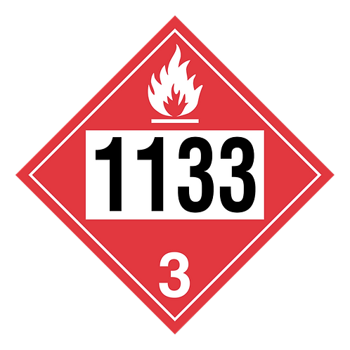 Adhesives Containing Flammable Liquid Truck Placards