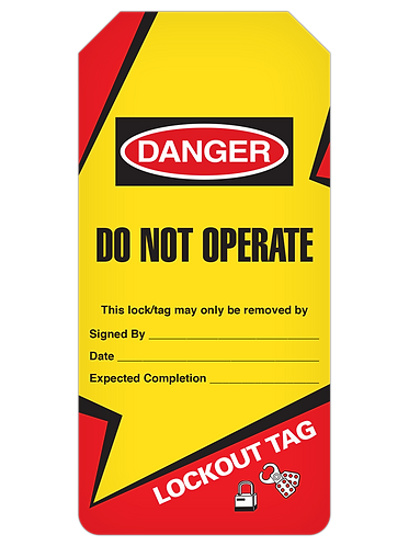 LOCKOUT Tag Roll  -  Do Not Operate (Lightning Bolt)