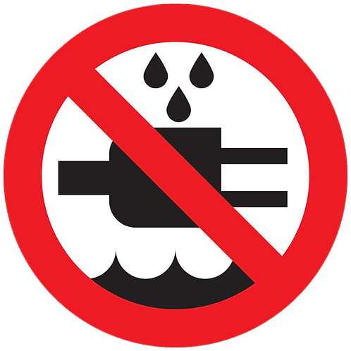 Prohibited - Do not Expose To Water
