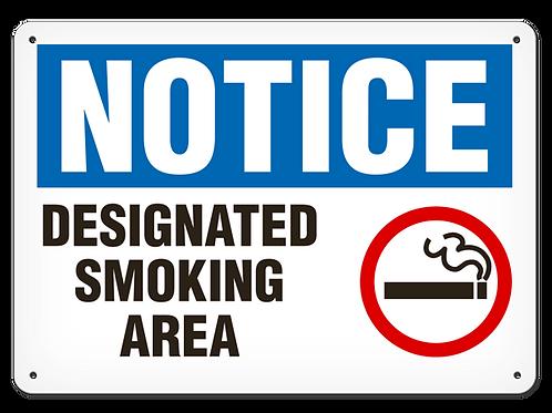 NOTICE - Designated Smoking Area