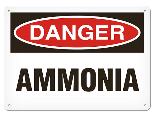 DANGER - Ammonia Safety Sign