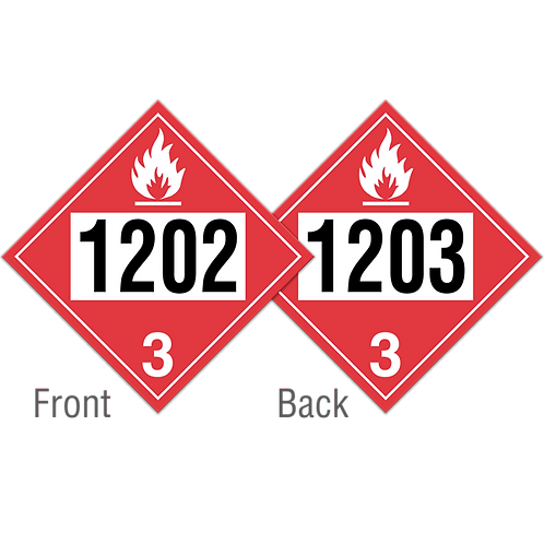 Diesel Fuel, Fuel Oil & Gasoline Truck Placards