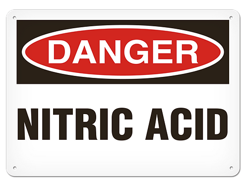DANGER - Nitric Acid Safety Sign
