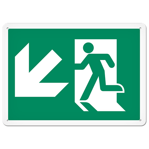 FIRE SIGNS - Exit (Down Left)