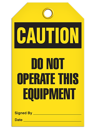 CAUTION Do Not Operate This Equipment