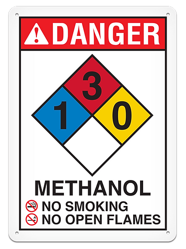 NFPA - DANGER Methanol