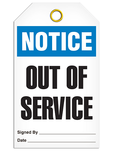NOTICE - Out Of Service
