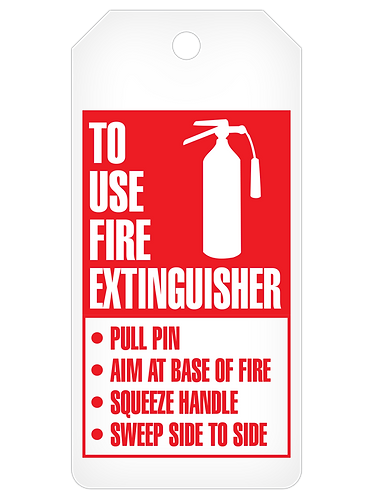 INSPECTION Tag Roll  -  Fire Extinguisher Inspection Record
