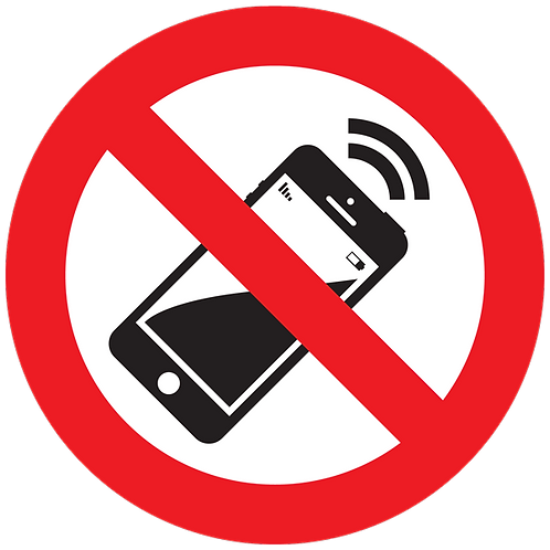 Prohibited - No Cell Phones