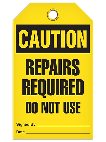 CAUTION - Repairs Required Do Not Use