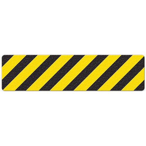 Black/Yellow Hazard Stripe Floor Sign