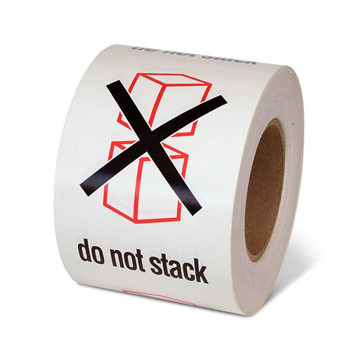 "DO NOT STACK - 6"" x 4"" Handling Label"