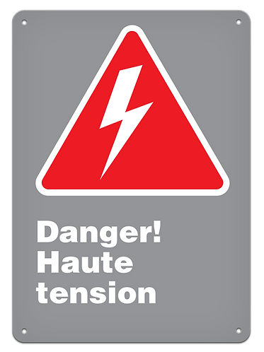Danger - Danger! Haute tension