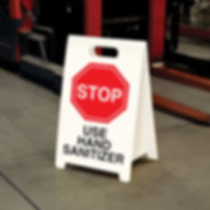A Frame Sign Use Hand Sanitizer