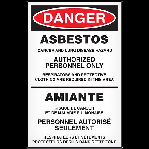 DANGER - Asbestos English/French