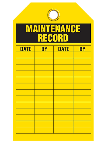Inspection  -  Maintenance Record