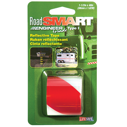 "Road Smart Engineer Grade Reflective Tape 1.5"" x 40"""
