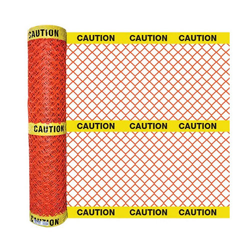 Diamond Mesh Safety Fence with Caution Barricade Tape