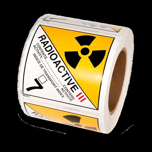 Class 7 - Radioactive Materials Cat. 3