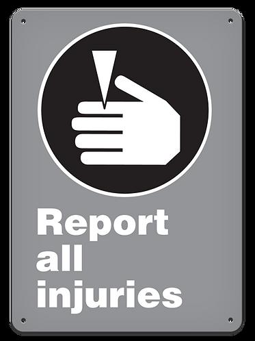 MANDATORY - Report All Injuries