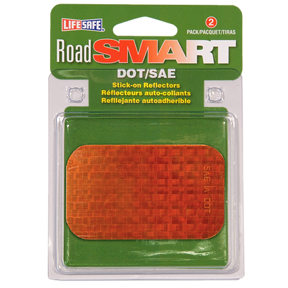 "Road Smart Stick-On Reflectors 2"" x 3.5"""