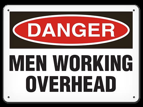DANGER - Men Working Overhead