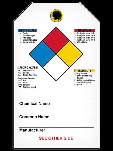 NFPA Diamond Tag - Hazardous Material Code