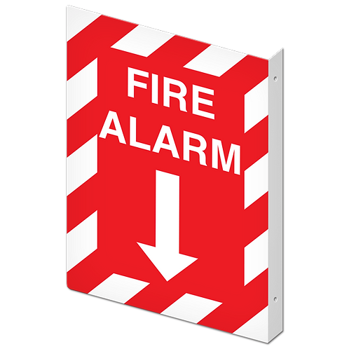 FIRE SIGNS - Fire Alarm  (Projected Sign)