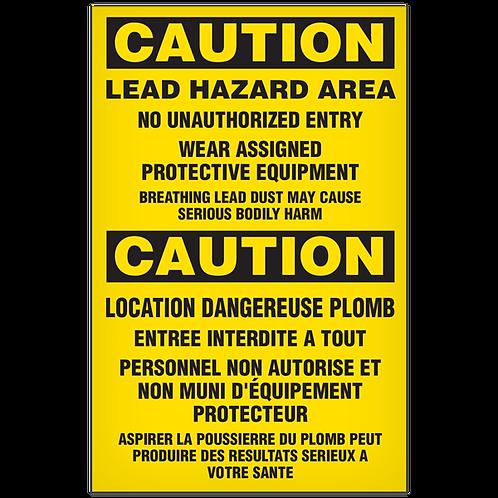 CAUTION - Lead Hazard English/French