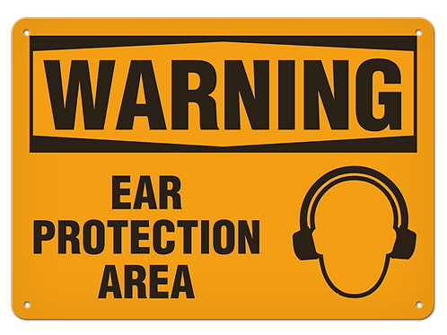 WARNING - Ear Protection Area