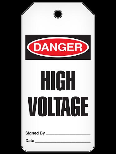 DANGER Tag Roll  -  High Voltage