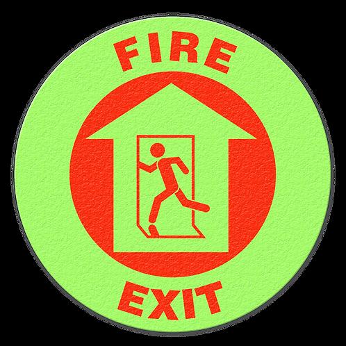 Fire Exit Glow Floor Sign