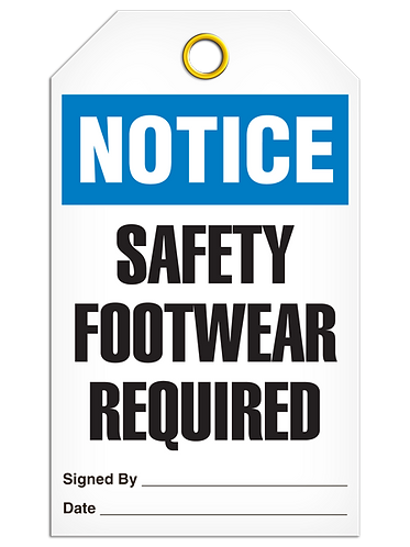 NOTICE - Safety Footwear Required
