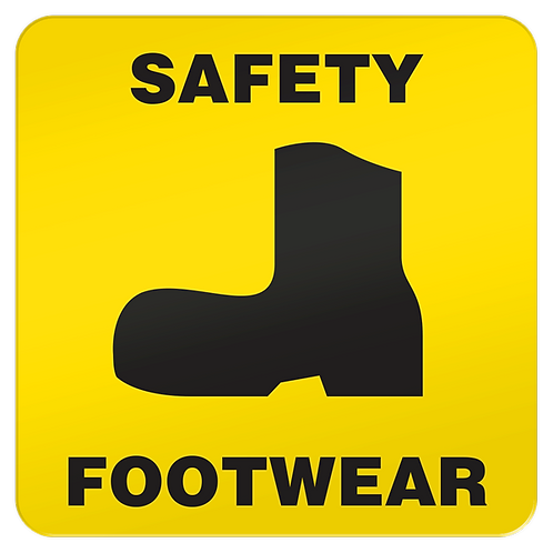 Safety Footwear Floor Sign