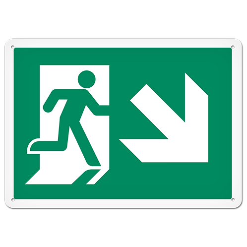 FIRE SIGNS - Exit (Down Right)