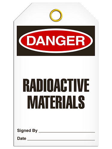 DANGER  -  Radioactive Materials