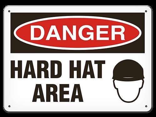 DANGER - Hard Hat Area Safety Sign