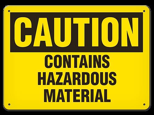 Caution - Contains Hazardous Material