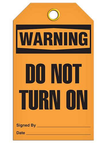 WARNING - Do Not Turn On