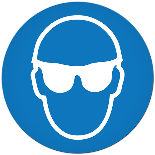 MANDATORY - Safety Glasses Required