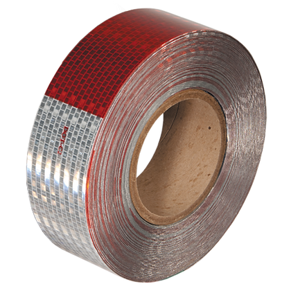 "Road Smart DOT-C2 Reflective Tape 2"" x 150ft (Red/Silver)"