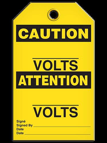 Bilingual CAUTION - ______Volts