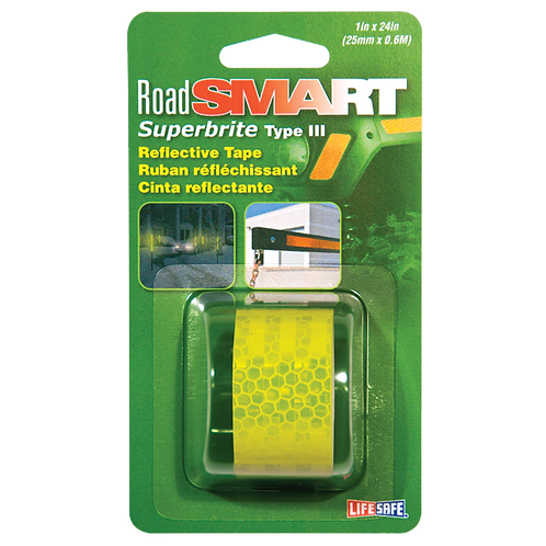 """Road Smart Fluorescent Lime Superbrite Type III Reflective Tape 1"""" x 24"""""""