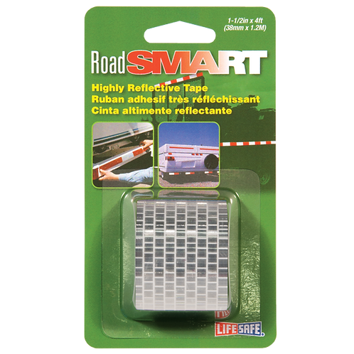"Road Smart Silver Highly Reflective Tape 1.5"" x 4ft"